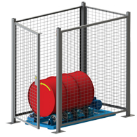 Stationary Drum Roller - Guard Enclosure DC583 | Par Equipment