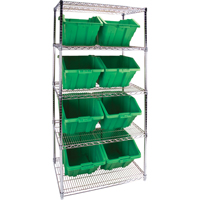 Wire Shelving Units with Storage Bins RL825 | Par Equipment