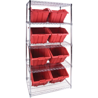 Wire Shelving Units with Storage Bins RL826 | Par Equipment