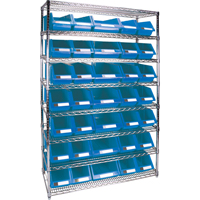 Wire Shelving Units with Storage Bins RL827 | Par Equipment