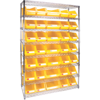 Wire Shelving Units with Storage Bins RL828 | Par Equipment