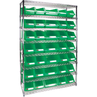 Wire Shelving Units with Storage Bins RL829 | Par Equipment