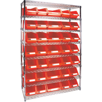 Wire Shelving Units with Storage Bins RL830 | Par Equipment