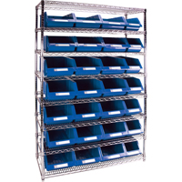Wire Shelving Units with Storage Bins RL831 | Par Equipment
