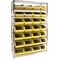Wire Shelving Units with Storage Bins RL832 | Par Equipment