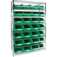 Wire Shelving Units with Storage Bins RL833 | Par Equipment