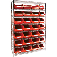 Wire Shelving Units with Storage Bins RL834 | Par Equipment