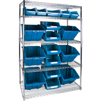 Wire Shelving Units with Storage Bins RL835 | Par Equipment