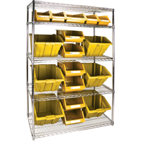 Wire Shelving Units with Storage Bins RL836 | Par Equipment