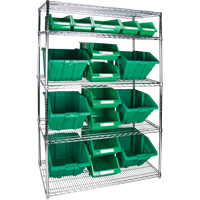 Wire Shelving Units with Storage Bins RL837 | Par Equipment