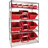 Wire Shelving Units with Storage Bins RL838 | Par Equipment
