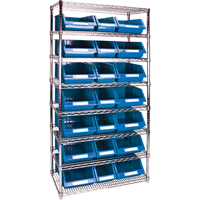 Wire Shelving Units with Storage Bins RL839 | Par Equipment