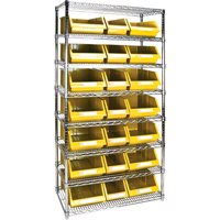 Wire Shelving Units with Storage Bins RL840 | Par Equipment