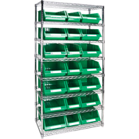 Wire Shelving Units with Storage Bins RL841 | Par Equipment