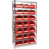 Wire Shelving Units with Storage Bins RL842 | Par Equipment